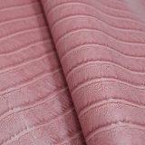 Linha couro sintético gravado do Weave da cor clara do saco do plutônio