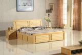 固体木のベッドの現代ダブル・ベッド(M-X2269)
