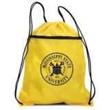 Sac en nylon promotionnel réutilisable de gymnastique, sac à provisions de sac à dos de cordon, sac de bride de forme physique