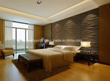 Textured 3D Wall Panel Raw MDF Baseboard for Interior Decoration