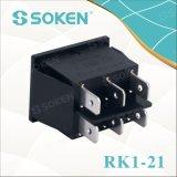 Soken Rk1-21 Lente encendido apagado Interruptor de balancín doble iluminado
