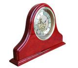 Reloj de madera de la chimenea del escritorio del palo de rosa del final magnífico del piano
