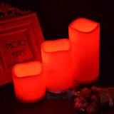 Multi Großhandelsfarben-Fernsteuerungsbatterie leuchtet flammenlose LED durch