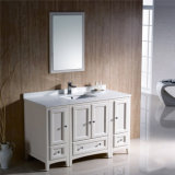 アメリカの床のミラーとの永続的な浴室の流しの虚栄心