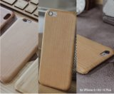 Da gravura real do laser da madeira de 100% caixa de madeira feita sob encomenda do telefone móvel para o iPhone