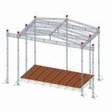 LED 정사각형 상자 스피커 알루미늄은 알루미늄 이동할 수 있는 사건 연주회 단계 지붕 사각 Truss를 조립한다