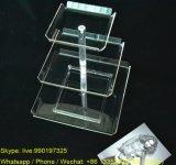 Les 3 couches bon marché effacent le plateau acrylique d'étalage de sucrerie d'usager