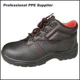 Zapatos de seguridad de acero de construcción de la punta y de la placa del cuero genuino