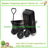 600 libras. Carro poli da descarga do jardim com cubeta plástica (TC2145)