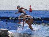 Plataforma plástica el pontón de los deportes de agua