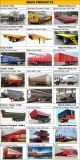 최신 판매를 위한 반 3개의 차축 말뚝 트럭 트레일러
