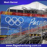 Bandeira ao ar livre feita sob encomenda resistente da cerca da tela do vento grande, bandeira do engranzamento