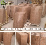 G562 Maple Red Granite Column CapかSkin/Base
