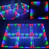 DMX 3D Mirror LED Portable Dance Floor pour Disco DJ Bar Party Event Light