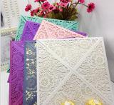 Diseño de tarjeta de lujo de la invitación de la boda