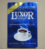 Zurückführbarer Aluminiumfolie-Reißverschluss-Kasten-Beutel-Kaffee-verpackenbeutel mit Ventil