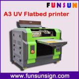 Impressora Flatbed UV do diodo emissor de luz Digital do melhor tamanho durável/A4 profissional da qualidade A3 com cabeça Dx5