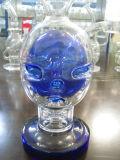 Blaue Schädel-Form-Glaswasser-Rohre, die mit unterschiedlicher Farbe rauchen