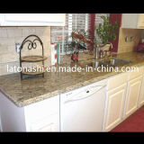 Kitchenのための最もよいPrefabricated Black Galaxy Granite Stone Tile Worktop/Countertop