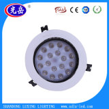 9W luz de techo integrada superficial ahuecada cubierta de aluminio de la alta calidad LED Downlight