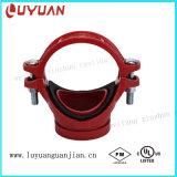 T meccanico del ferro duttile di alta qualità filettato (FM/UL)