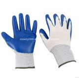 Белые Nylon серые перчатки нитрила, сторона кофеего, 38g, 23 Cm