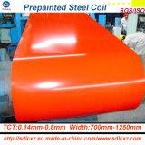 (0.14mm-1.0mm) A cor revestida galvanizou a bobina de aço para o edifício PPGI