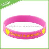 Wristband/braccialetto promozionali del silicone con il marchio Colorfilled