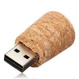 Disco de madeira do USB Pendrive U que deseja a movimentação do flash do USB do frasco