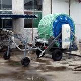 China Sistema de riego Rainmaking de bobina de manguera con boom