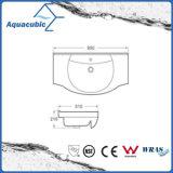 Da mão cerâmica da bacia do gabinete do banheiro dissipador de lavagem Semi-Recessed (ACB8255)