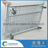 Contenitore galvanizzato della rete metallica con la rotella