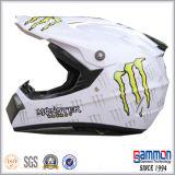 점 낙서 (CR403)를 가진 광택이 없는 까만 Motorcross 헬멧