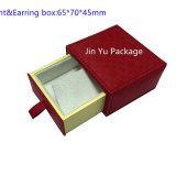 Rectángulo de empaquetado determinado del armario Jy-Jb65 de la dimensión de una variable de la joyería de cuero de papel del regalo