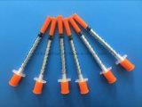 세륨, ISO를 가진 바늘을%s 가진 처분할 수 있는 의학 인슐린 주사통 1ml (100U)