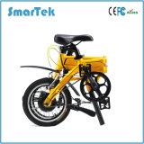 Smartekの流行の電気自転車電気押しの自転車の方法若者達S-013-1のための折る移動性のEbikeの自転車のスクーター