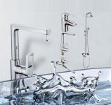 Con la piattaforma dell'acqua della bevanda singolo rubinetto montato della cucina della maniglia (H22-555)