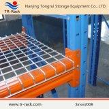 Decking galvanizado do engranzamento de fio de aço no racking da pálete