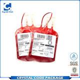 La aduana imprimió la escritura de la etiqueta del bolso de la sangre de Ashesive del uno mismo