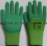 En388 Anzeigeinstrument-Polyester-Latexschaum beschichtete der neuen Produkt-13 Arbeits-Handschuhe mit Windung-Ende