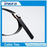 黒いコーティングが付いている1.2mmの厚さPVC棒のステンレス鋼ケーブルのタイ