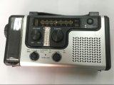 비상사태 태양 수동 크랜크 다이너모 Am/FM/Noaa 날씨 라디오, 읽는 플래쉬 등