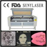 Schnelle Geschwindigkeits-Doppeltes geht Texitle Laser-Ausschnitt-Maschine mit Cer FDA voran