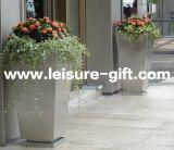 Fo9050ステンレス鋼の先を細くされた長方形の庭の植木鉢