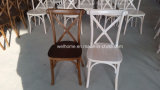 [ليموش] لون [بيش ووود] صليب ظهر كرسي تثبيت مع مقادة صلبة