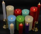 Vela colorida de la columna de la boda romántica europea LED del estilo