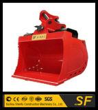 1.5t 900mm 유압 기우는 물통 굴착기 경사 물통