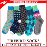 Kundenspezifische Socken-Fertigung-Mann-Socken - lustige Kleid-Socke für Mann