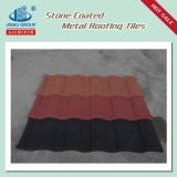 Azulejo de azotea cubierto piedra del metal del material de construcción hecho en China