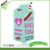 Cubierta del silicón de la taza de la leche de los rasgones de los muchachos de los accesorios el 100% del teléfono para el iPhone 6 (RJT-0168)